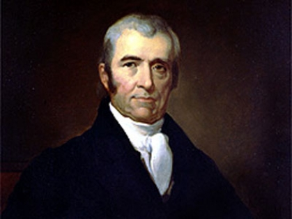 "Justice John Marshall who first put forth the ""pretension of converting the discovery of an inhabited country into conquest."""